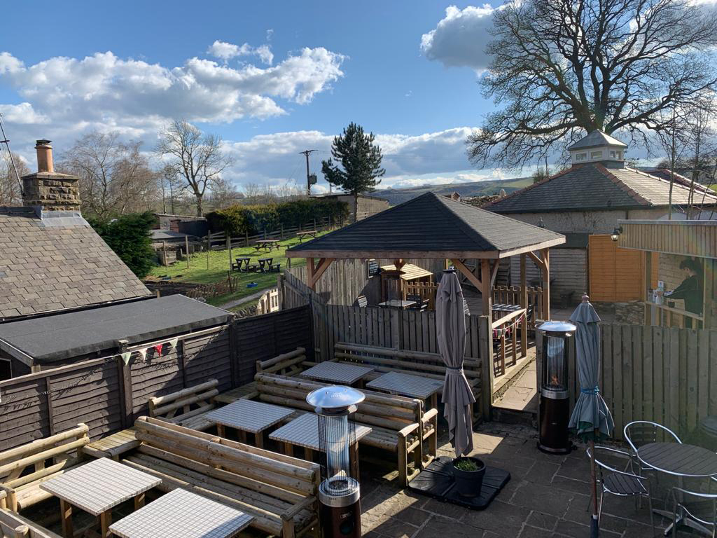 Check out our superb, large beer garden